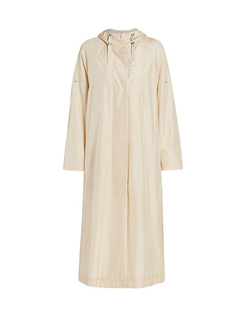 Billie Silk Taffeta Long Anorak Jacket