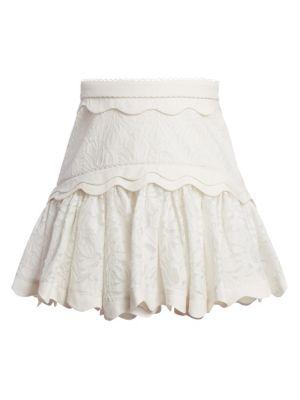 Acler Montana Embroidery Flounce Skirt