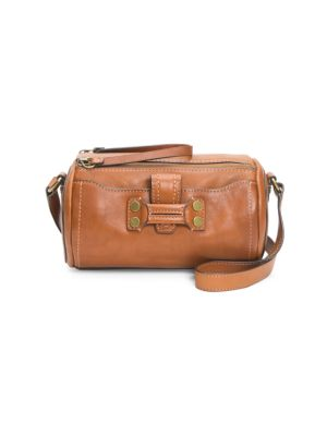 Frye Bags Mini Nora Leather Barrel Bag