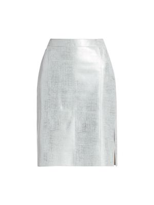 Akris Skirts Metallic Leather Skirt