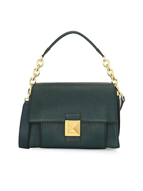 Small Diva Leather Shoulder Bag