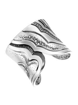 John Hardy Lahar Sterling Silver Diamond Cuff