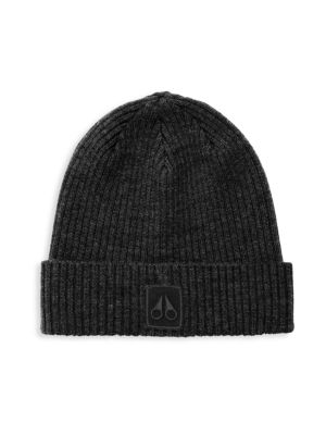 Moose Knuckles Merino Wool Beanie In Black