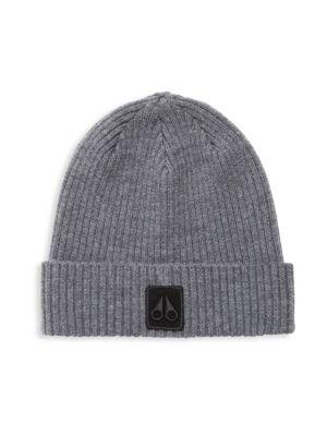 Moose Knuckles Merino Wool Beanie In Grey