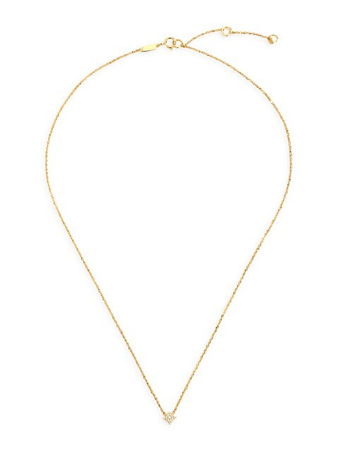 Aurora 14K Yellow Gold & Diamond Pavé Star Necklace