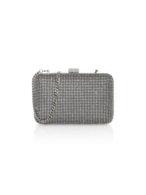 Whiting & Davis Women's Yves Crystal Minaudière In Silver