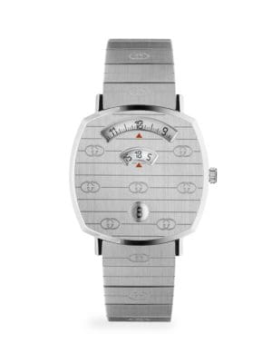 Gucci Lingerie Grip GG Stainless Steel Bracelet Watch