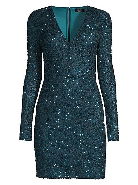 Malaga Sequin V-Neck Bodycon Dress