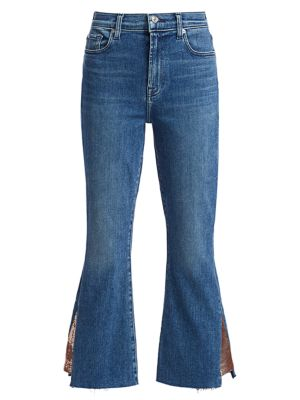 7 For All Mankind Women's Luxe High-rise Slim-fit Kick Flare Jeans In Rose Gold Blue