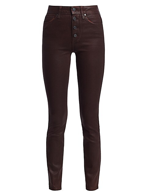 Hoxton Coated Skinny Jeans