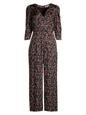 Rebecca Taylor Suits Lia Floral Stretch-Silk Jumpsuit