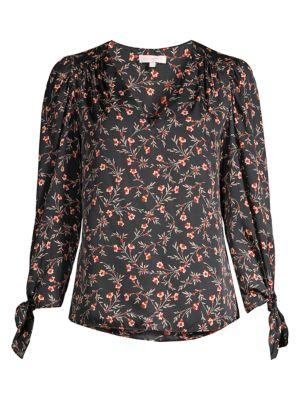 Rebecca Taylor Tops Lia Stretch-Silk Floral Top