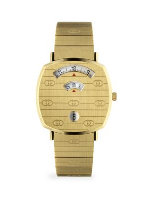 Gucci Grip Gg Yellow Gold Pvd Bracelet Watch
