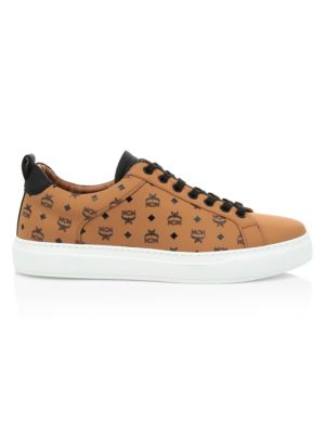 Mcm Sneakers Logo Group M Leather Sneakers