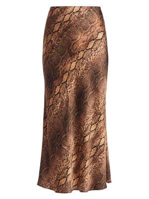 Andamane Bella Snake Print Skirt