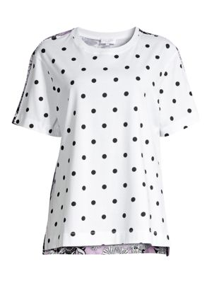 Escada Sport Tops Mini Polka Dot Floral Back Tee
