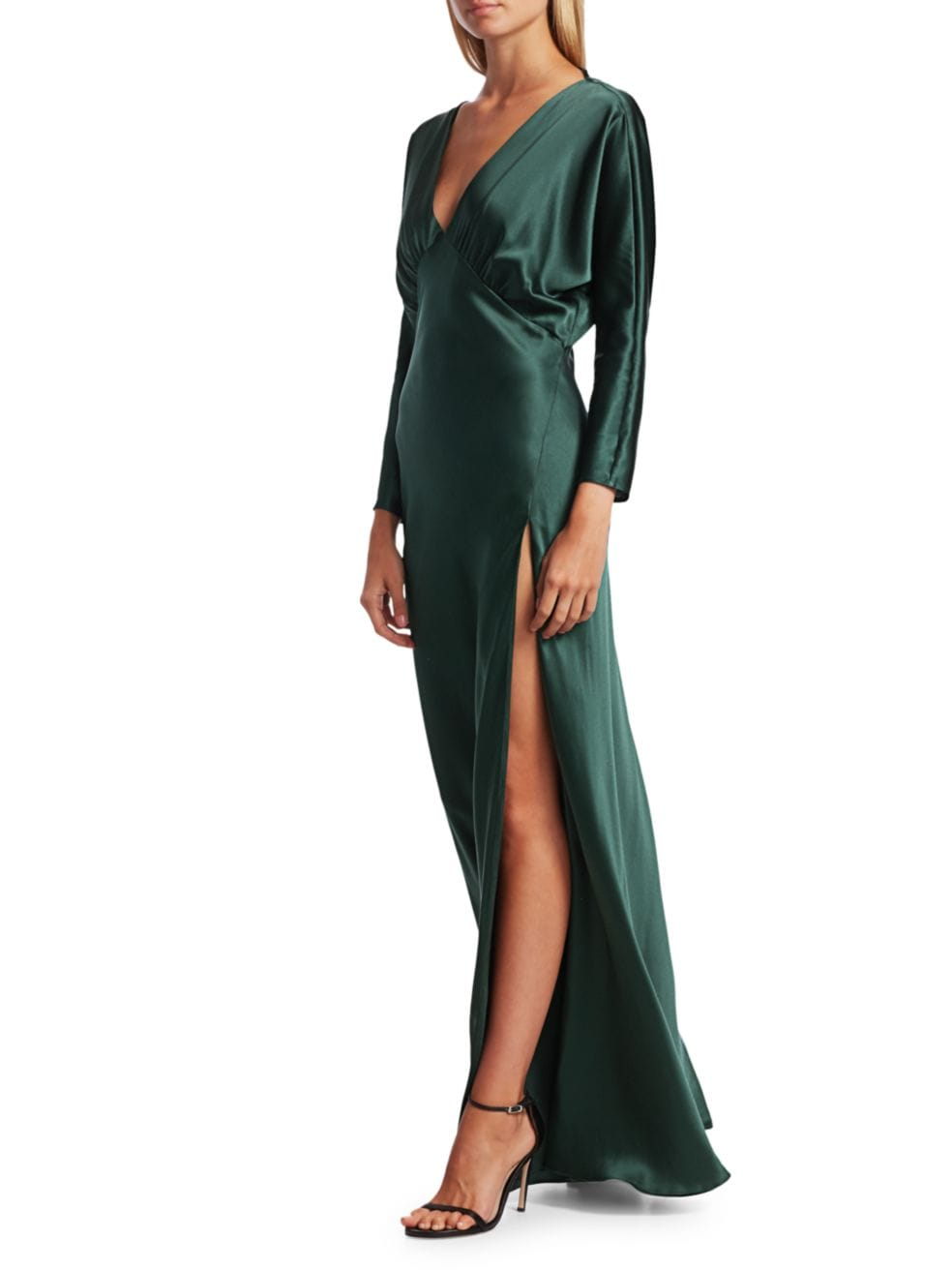 Michelle Mason Dolman Long Sleeve Gown   SaksFifthAvenue