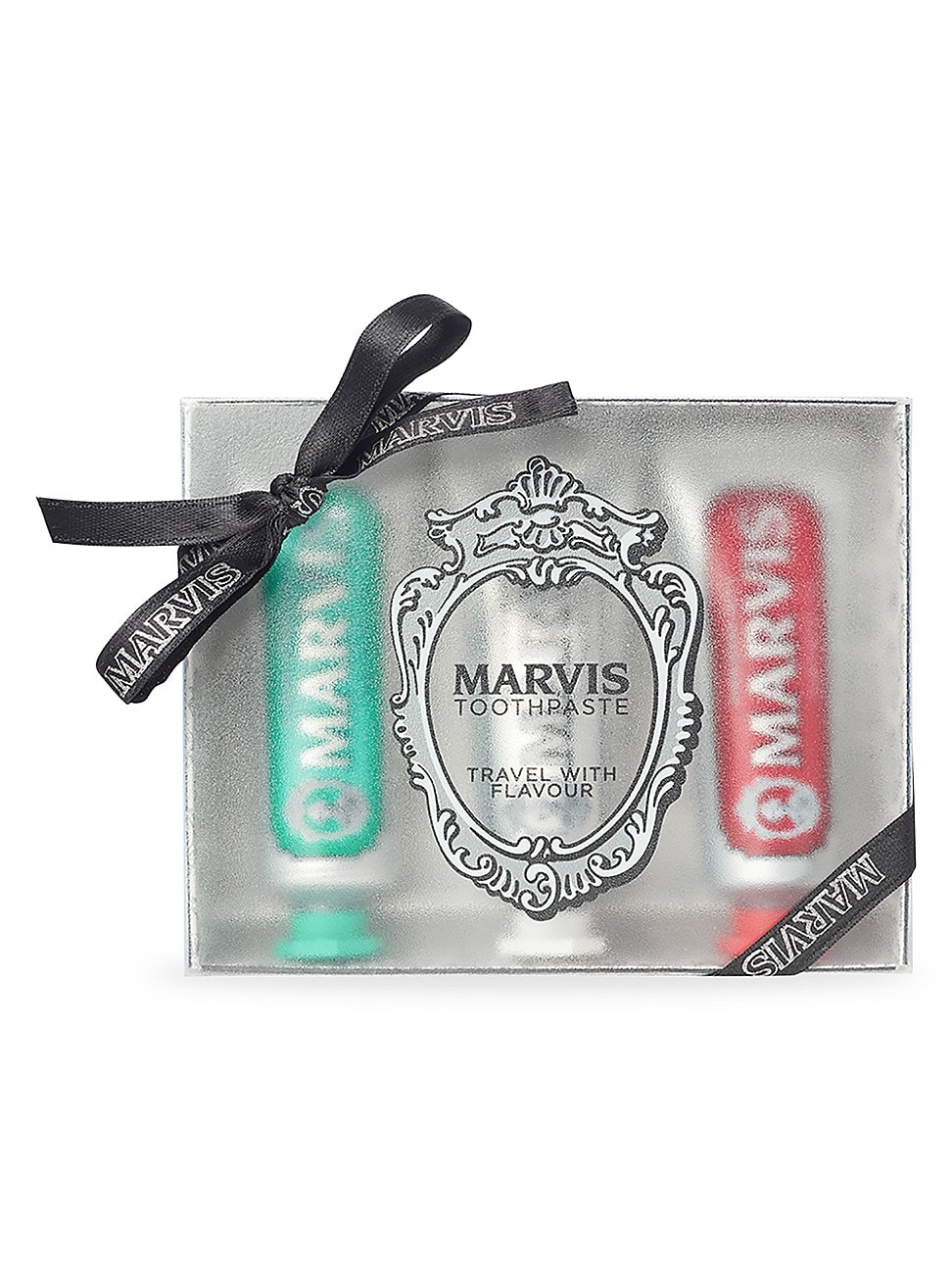 Marvis WOMEN'S TRAVEL WITH FLAVOUR 4-PIECE TOOTHPASTE SET