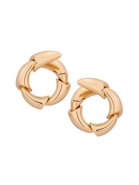 Calla 18K Rose Gold Wraparound Hoop Earrings