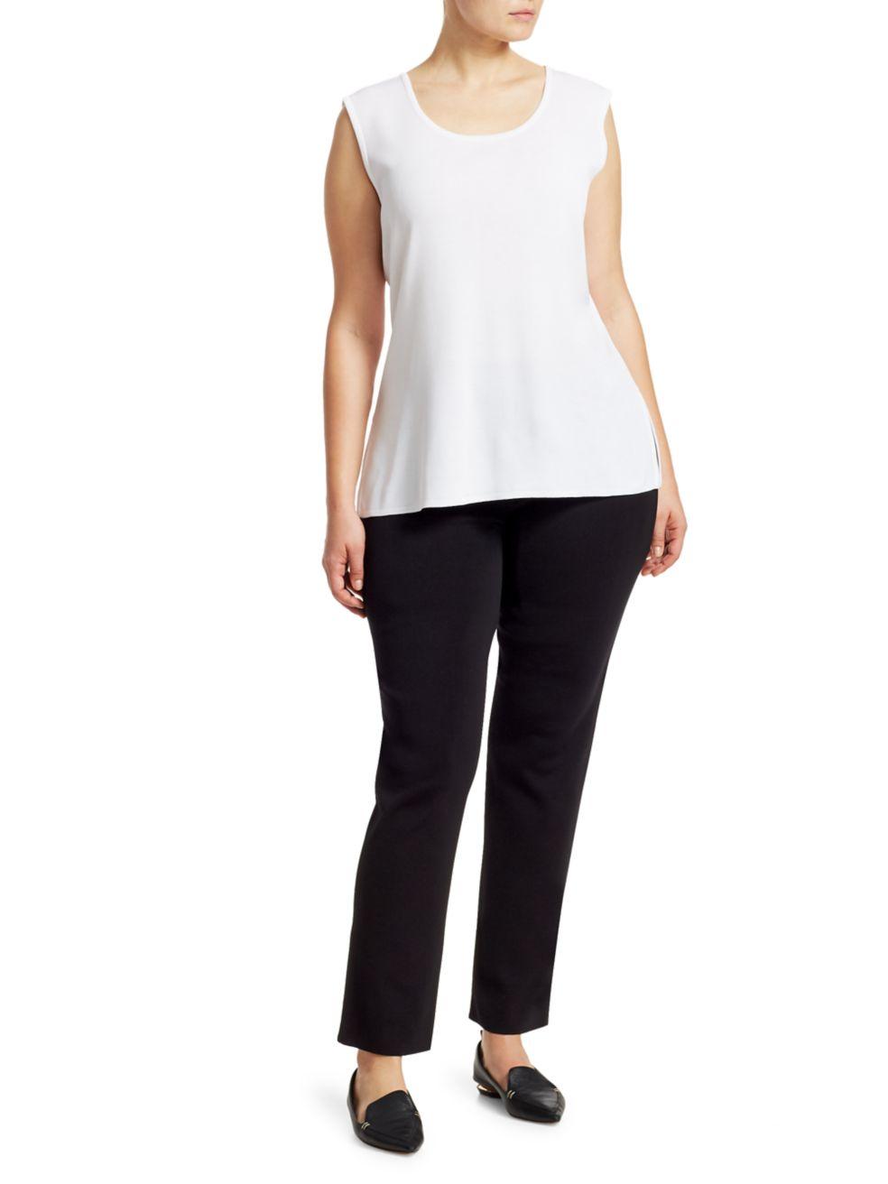 Misook, Plus Size Slim-Leg Pull-On Pants | SaksFifthAvenue