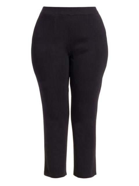 Misook, Plus Size Slim-Leg Ankle Cropped Pants | SaksFifthAvenue