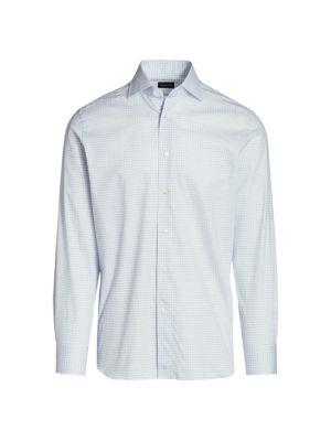 Ermenegildo Zegna Plaid Sport Shirt