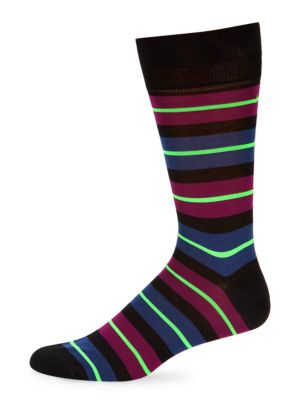Paul Smith Men's Donnie Striped Socks In Black