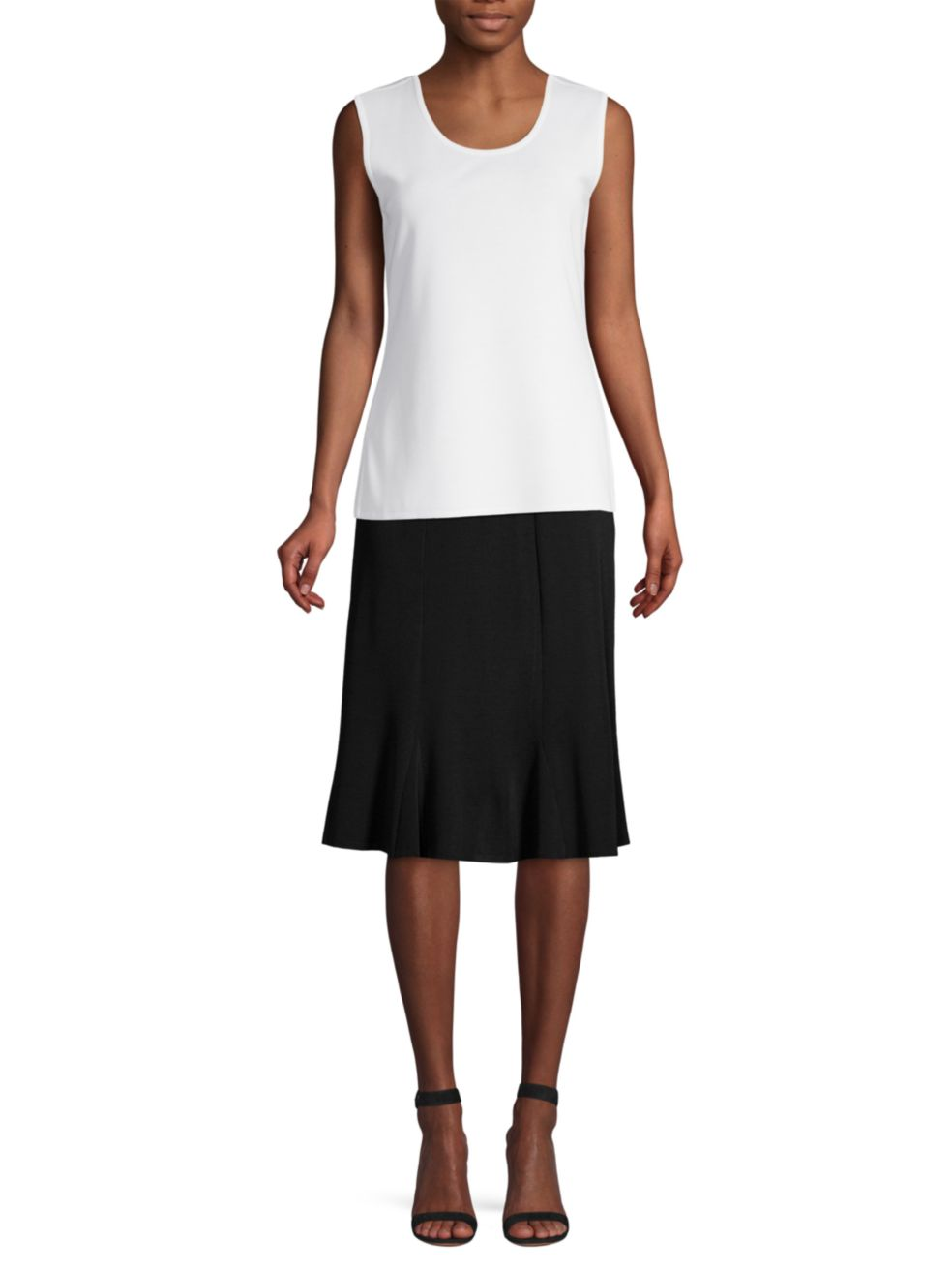 Misook Knee-Length Flounce Skirt | SaksFifthAvenue