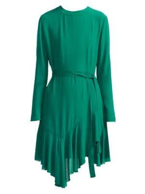 Maje Romea A Line Handkerchief Dress