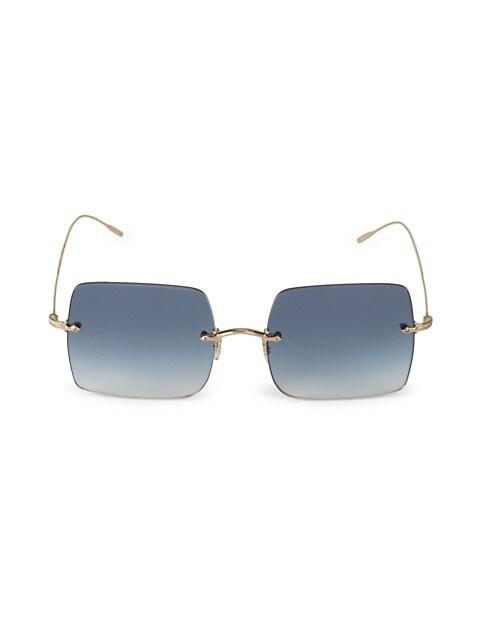 Oishe Sun 57MM Square Sunglasses