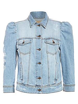 Ada Puff Sleeve Denim Jacket by Retrofête