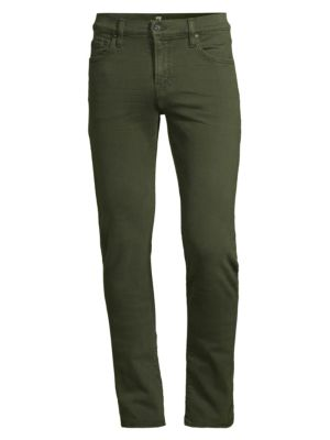 7 For All Mankind Paxton Skinny Twill Jeans In Army