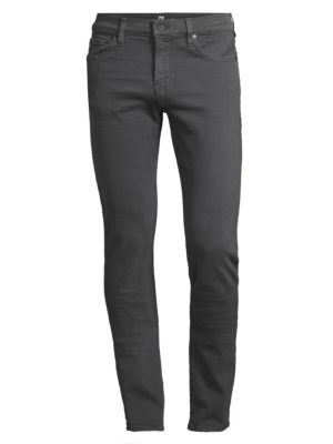 7 For All Mankind Paxton Skinny Twill Jeans In Dark Grey