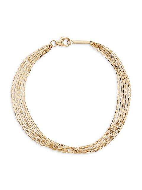Mailibu 14K Yellow Gold 5-Chain Strand Bracelet