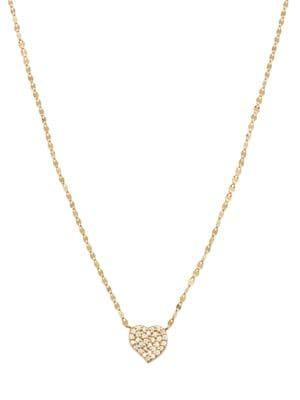 Lana Girl 14k Yellow Gold Diamond Heart Pendant Necklace Saks Com