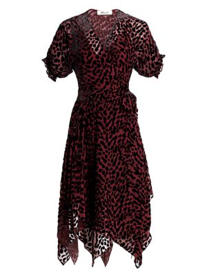 Diane Von Furstenberg Katherine Leopard Silk Blend Wrap Dress