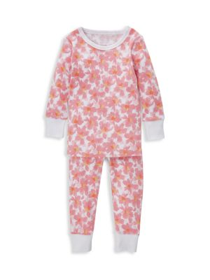 Aden Anais Baby Girl S Flowers Two Piece Cotton Pajama Set