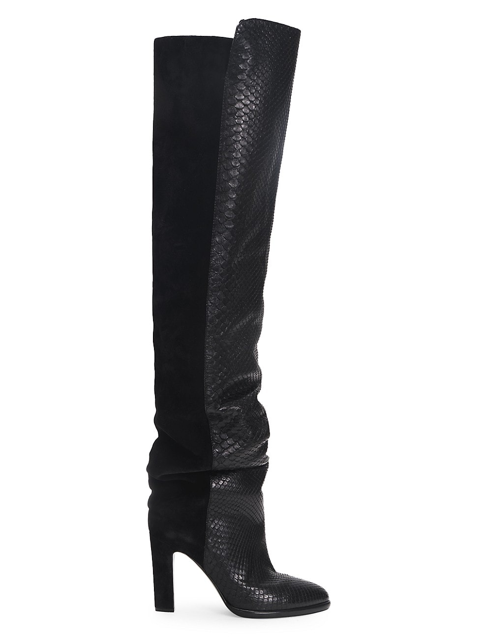 Givenchy Women's Mayfair Suede & Snakeskin-embossed Leather Boots In Black