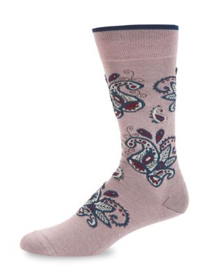 Marcoliani Paisley Crew Socks