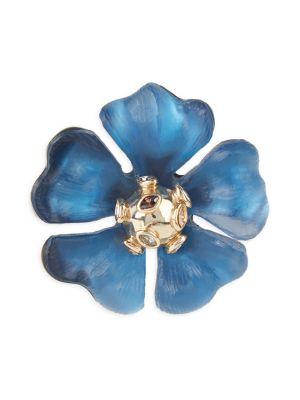 Alexis Bittar Accessories Lucite & Crystal Sputnik Flower Pin