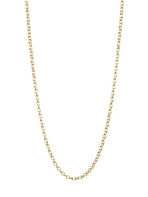 """18K Yellow Gold Belcher-Link Long Chain Necklace/0.08"""""""