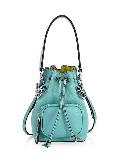 Mini Mon Tresor Leather Bucket Bag