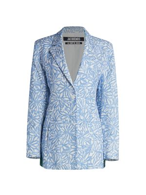 Daisy Drive Womens Catrine Floral Printed Bomber Jacket