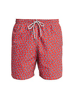 Saks Fifth Avenue COLLECTION Paisley Swim Trunks