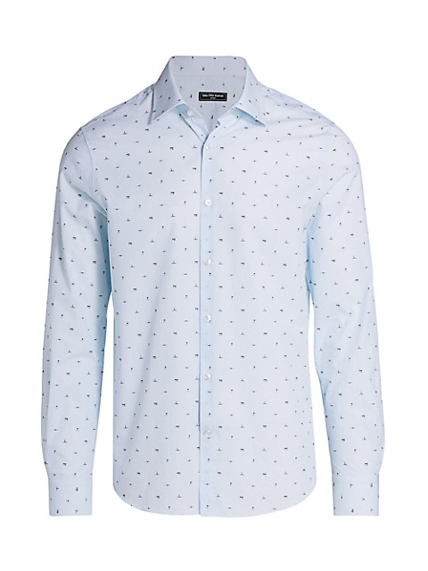 COLLECTION Modern-Fit Travel Graphic Print Shirt