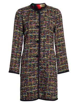 Etro Jackets Reversible Tweed & Matelassé Floral Jacket