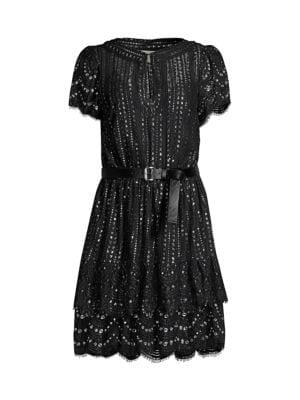 Lux Metallic Lace Dress