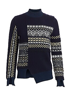 Fair Isle Patchwork Wool Sweater by 3.1 Phillip Lim