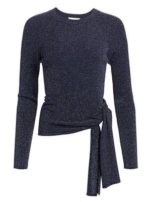 b1df6b8b604 3.1 Phillip Lim - Lurex Rib-Knit Side-Tie Sweater - saks.com
