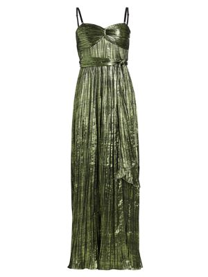 Jonathan Simkhai Tops Metallic Plisse Strapless Gown